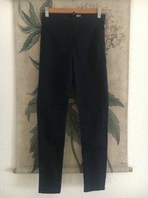 Highwaist Skinny Hose marine blau dunkelblau 34 XS