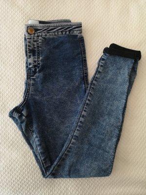 Asos Petite Pantalone a vita alta grigio ardesia-blu
