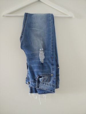 Missguided Jeans taille haute bleu