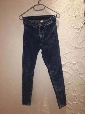 Highwaist Skinny Jeans Washed Out Style H&M