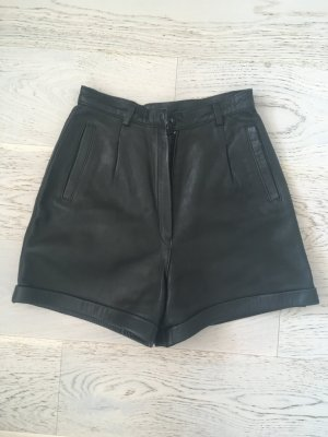 Highwaist Vintage Leder Shorts
