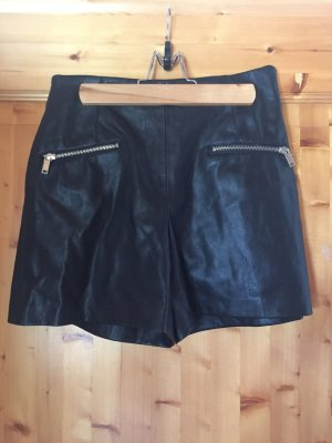 Highwaisted Leder Shorts