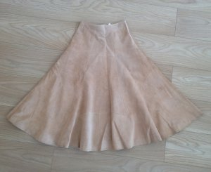 H&M Leather Skirt multicolored suede