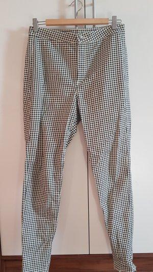 H&M High Waist Trousers white-black