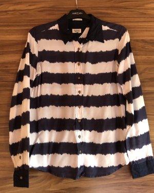 Hilfiger Denim Blusa-camisa blanco-azul oscuro