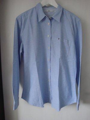 Hilfiger Bluse; hellblaue Bluse; Bluse XXL; Tommy Hilfiger Hemd