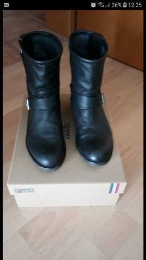 Hilfiger Boots Leder schwarz gr 37