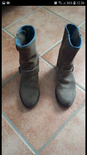 Hilfiger Boots Wildleder braun gr 37