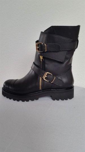 Hilfiger Collection, Biker Boots, schwarz, Leder, 38,  neu, € 600,-