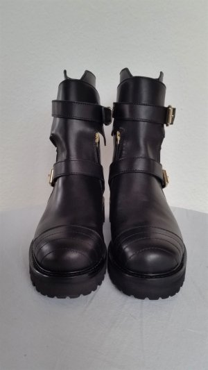 Hilfiger Collection, Biker Boots, schwarz, Leder, 41, neu, € 600,-