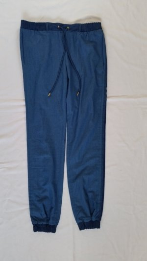 Hilfiger Collection, Bleached Chambray Pant, blau, 36, Baumwolle, neu, € 250,-