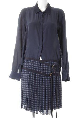 Hilfiger Collection Hemdblusenkleid dunkelblau-blau Karomuster Lagen-Look