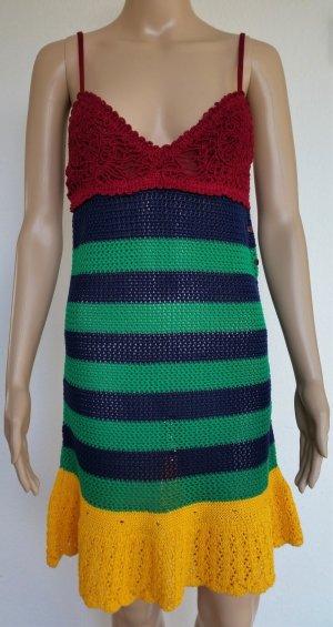 Hilfiger Collection, Kleid, Baumwolle, mehrfarbig, gestreift, M, neu, € 500,-