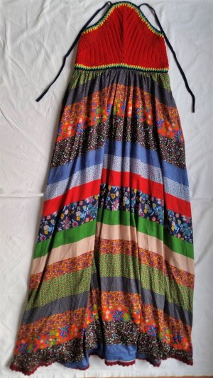 Hilfiger Collection, Maxikleid, mehrfarbig, Baumwolle, 38 (US 8), neu, € 950,-
