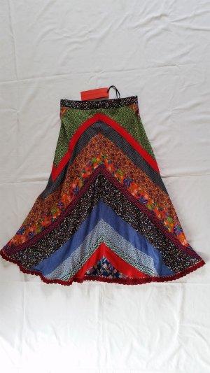 Hilfiger Collection, Patchwork Skirt, mehrfarbig, Baumwolle, 36 (US 6), neu