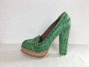 Hilfiger Collection, Pumps, grün, Leder, 38, neu