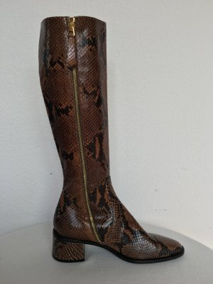 Hilfiger Collection, Python Boots, braun, Leder, EU 37, neu, € 750,-