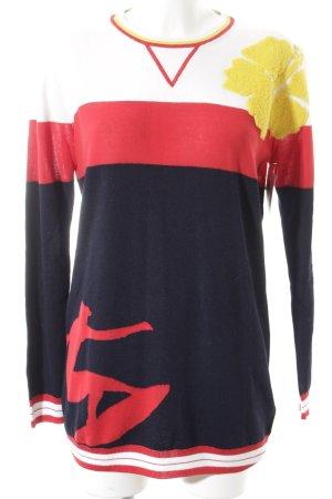 Hilfiger Collection Rundhalspullover Motivdruck Street-Fashion-Look