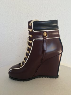 Hilfiger Collection, Sneaker wedges, bordeaux-blau, Leder, 40, neu