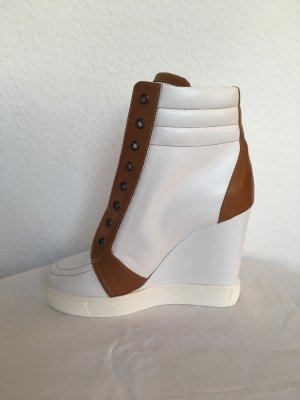 Hilfiger Collection, Wedge Sneaker, Leder, weiß-braun, EU 39, neu, € 350,-