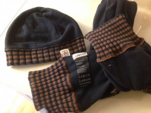 Hilfiger Damen Set Mütze und Schal *blau/braun* Kaum getragen super Zustand