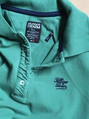 Hilfiger Demin Poloshirt in grün