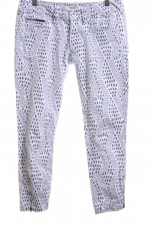 Hilfiger Denim 7/8 Length Trousers white-blue allover print casual look