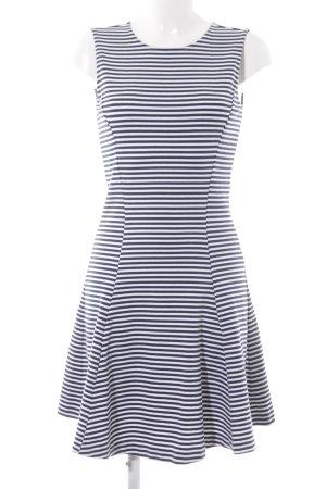 Hilfiger Denim A-Linien Kleid dunkelblau-weiß Streifenmuster Romantik-Look