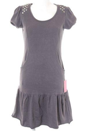 Hilfiger Denim A-Linien Kleid graubraun-grau Casual-Look