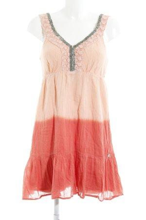 Hilfiger Denim A-Linien Kleid lachs-altrosa Farbverlauf extravaganter Stil