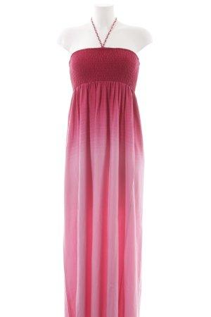 Hilfiger Denim Vestido bandeau magenta-rosa degradado de color Estilo playero