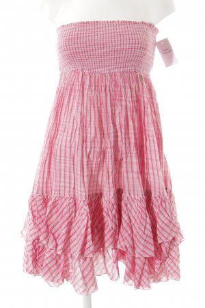 Hilfiger Denim Bandeaukleid rosa-magenta Streifenmuster Business-Look