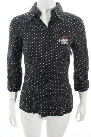 Hilfiger Denim Bluse schwarz-weiß Punktemuster Casual-Look
