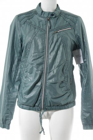 Hilfiger Denim Bomber Jacket black-turquoise check pattern street-fashion look