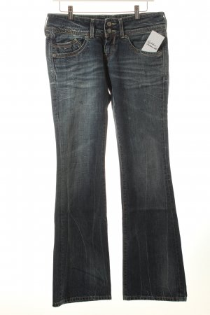 Hilfiger Denim Boot Cut Jeans blau-blassblau Used-Optik