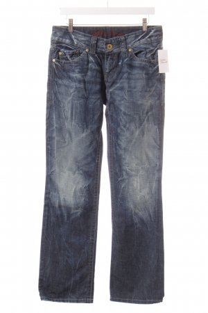 Hilfiger Denim Boot Cut Jeans dunkelblau Batikmuster Casual-Look