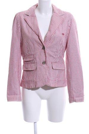 Hilfiger Denim Blazer boyfriend rose-blanc motif rayé style d'affaires