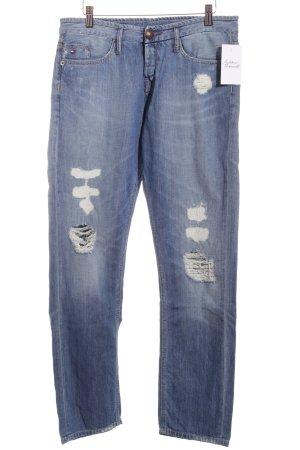 Hilfiger Denim Boyfriendjeans blau-wollweiß Jeans-Optik
