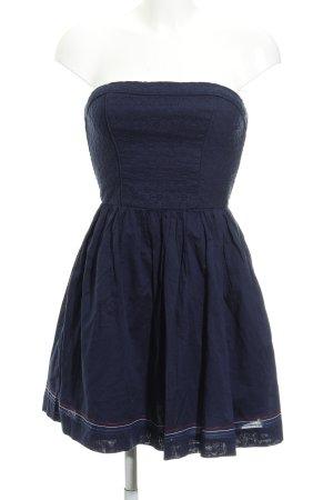Hilfiger Denim Vestido bustier azul oscuro modelo de punto flojo look casual