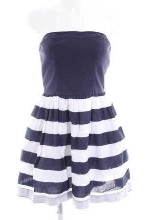 Hilfiger Denim Vestido bustier azul oscuro-blanco puro estampado a rayas