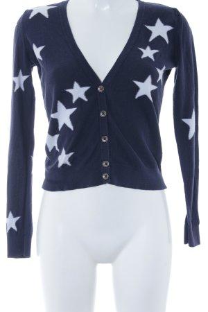 Hilfiger Denim Cardigan dunkelblau-weiß Sternenmuster Casual-Look