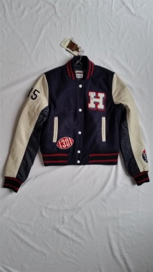 Hilfiger Denim, College-Jacke Limited Edition, navy-weiß-rot, M, neu, € 500,-