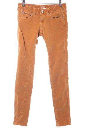 Hilfiger Denim Pantalon en velours côtelé orange foncé style campagnard