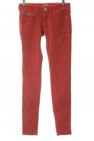 Hilfiger Denim Corduroy Trousers bright red-silver-colored casual look