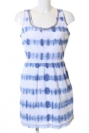 Hilfiger Denim Cut out jurk wit-blauw abstract patroon casual uitstraling