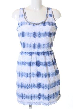Hilfiger Denim Cut-Out-Kleid weiß-blau abstraktes Muster Casual-Look