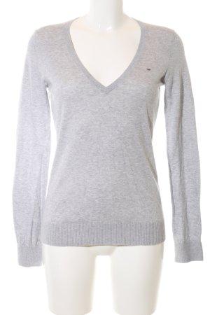 Hilfiger Denim Fine Knitted Cardigan light grey flecked casual look