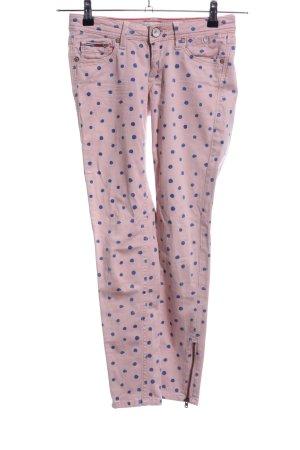 Hilfiger Denim Five-Pocket-Hose pink-blau Allover-Druck Casual-Look
