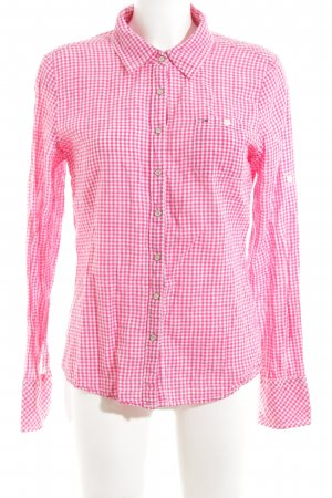 Hilfiger Denim Flanellhemd pink-weiß Karomuster Casual-Look