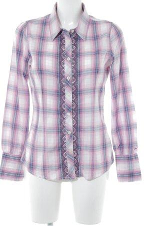 Hilfiger Denim Flanellen hemd roze-azuur geruite print casual uitstraling